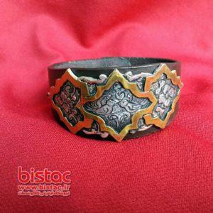 bracelet silver With Brass Emerald-bistac-ir