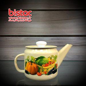 One liter enamel teapot-bistac-ir04