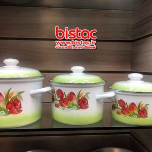 6-piece glazed service (Russia)  bicolor Steel edge-bistac-ir02