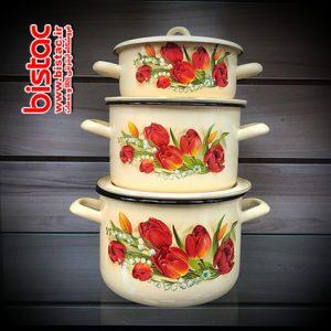 6-piece glazed service (Russia) tulip flowers-bistac-ir00