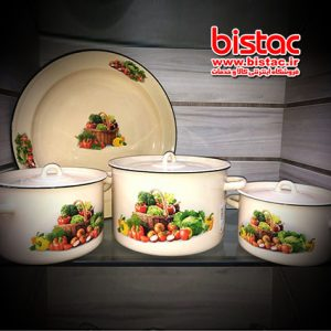 7-piece glazed service (Russia)  vegetables basket-bistac-ir00