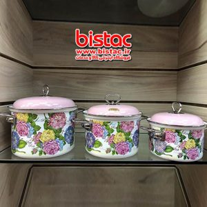 Large set of 6-piece stainless steel pot-bistac-ir00