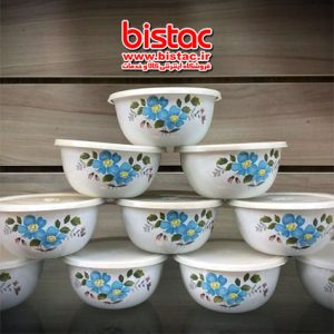 0.5 liter glazed Bowl with door plastic (Russia)-bistac-ir00