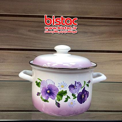 1 liter glazed pot Steel edge -bistac-ir00(Russia)