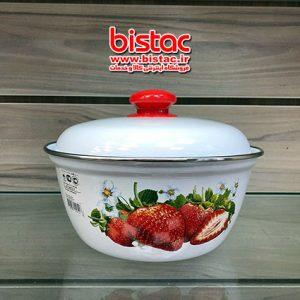 2 liter glazed Bowl withdoor (Russia)-bistac-ir03
