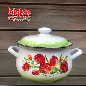 2 liter glazed pot vat Steel edge (Russia) -bistac-ir00