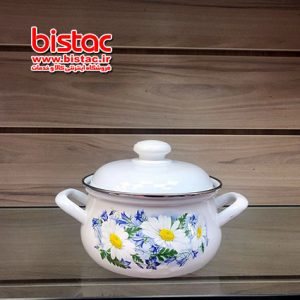 2 liter glazed pot vat Steel edge (Russia) -bistac-ir02