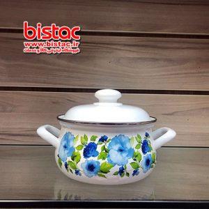 2 liter glazed pot vat Steel edge (Russia) -bistac-ir03