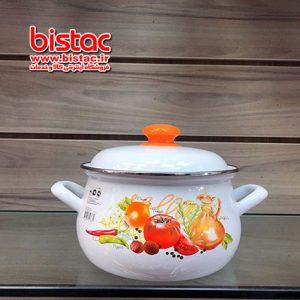 3 liter glazed pot vat Steel edge (Russia)-bistac-ir01