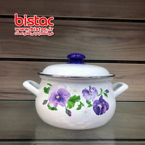 3 liter glazed pot vat Steel edge (Russia)-bistac-ir03