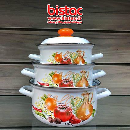 set of 12-piece stainless steel pot-bistac-ir00